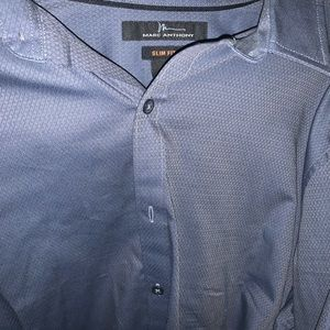 Mark Anthony gray collared shirt